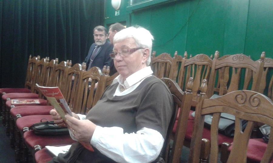 Kozsár Julianna a konferencia szünetében