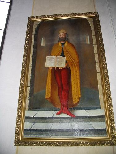 Szent Márton képe a túri templomban Csáky Károly felvételén