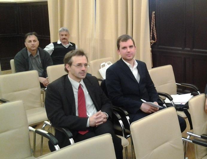 A CESCI munkatársai Ocskay Gyula és Nyeste András  a szakképzés évét lezáró konferencián