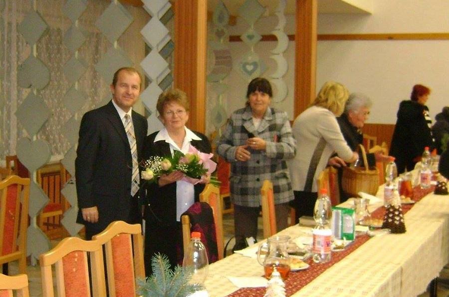 A Muzslai Nyugdíjasok Szervezetének karácsonyi ünnepségén