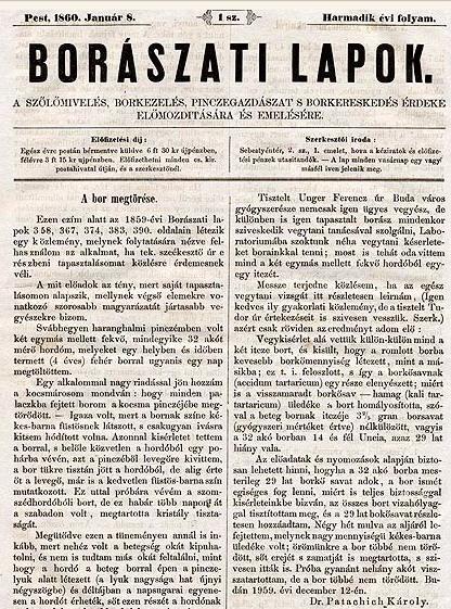 A Gyürky szerkesztette Borászati Lapok a szerző reprodukcióján