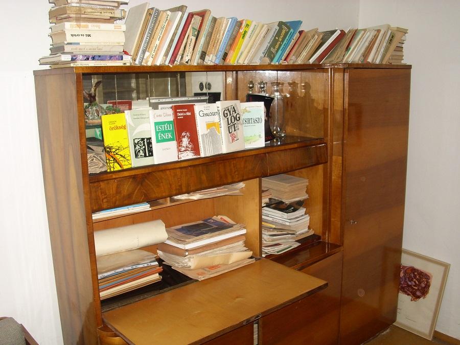 A könyvek egy része a szerző felvételén