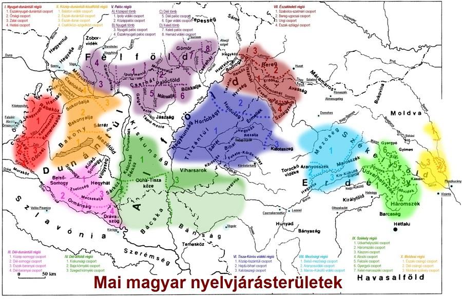 Mai-magyar-nyelvjarasterületek-térkép