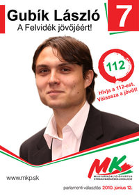 Gubík 2010-es plakátja