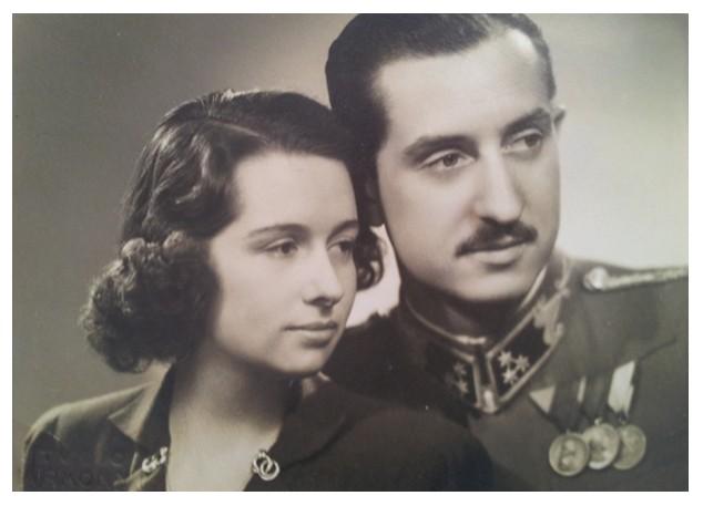 Lázár Flóra és Bezegh-Huszágh István 1943