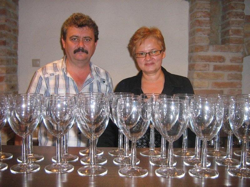 Palík László és felesége Klára