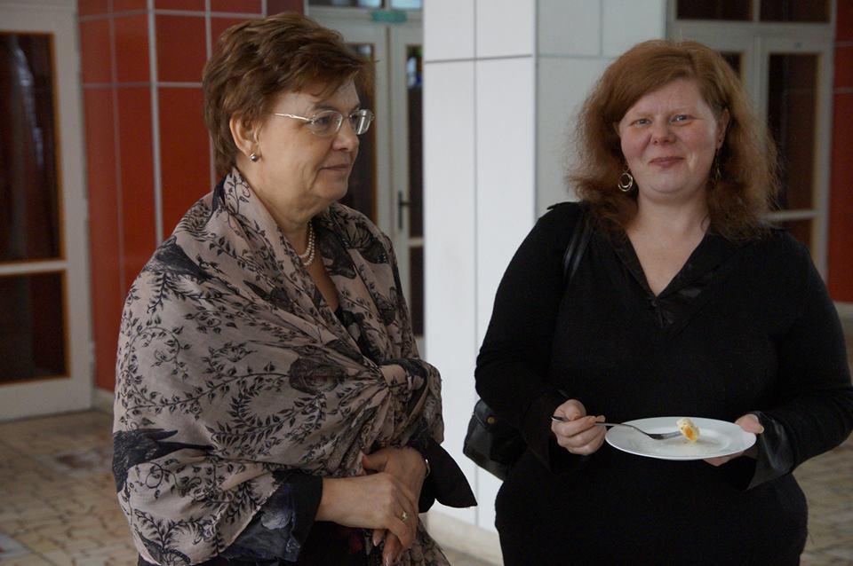 Pogány Erzsébettel a SZAKC igazgatójával