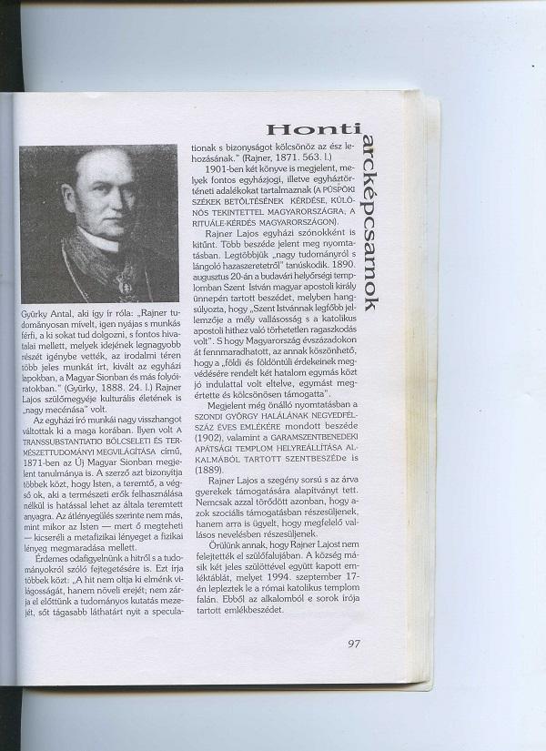 Rajner Rajos portréja a szerző könyvében. Cs.K.