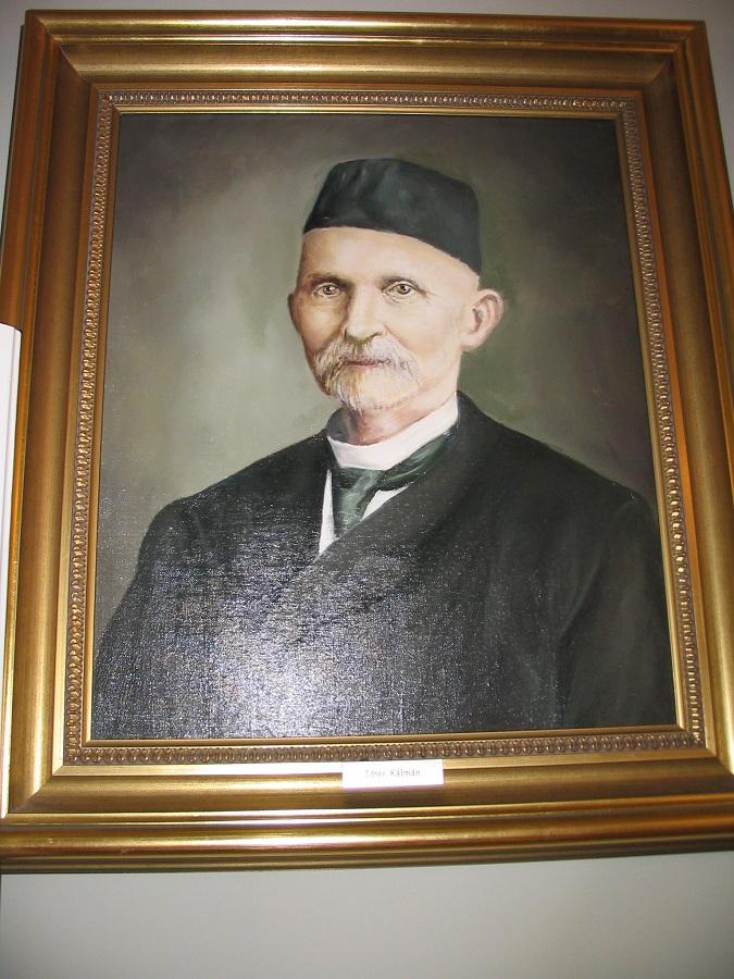 Sőtér Kálmán a híres méhész Csáky Károly reprodukcióján
