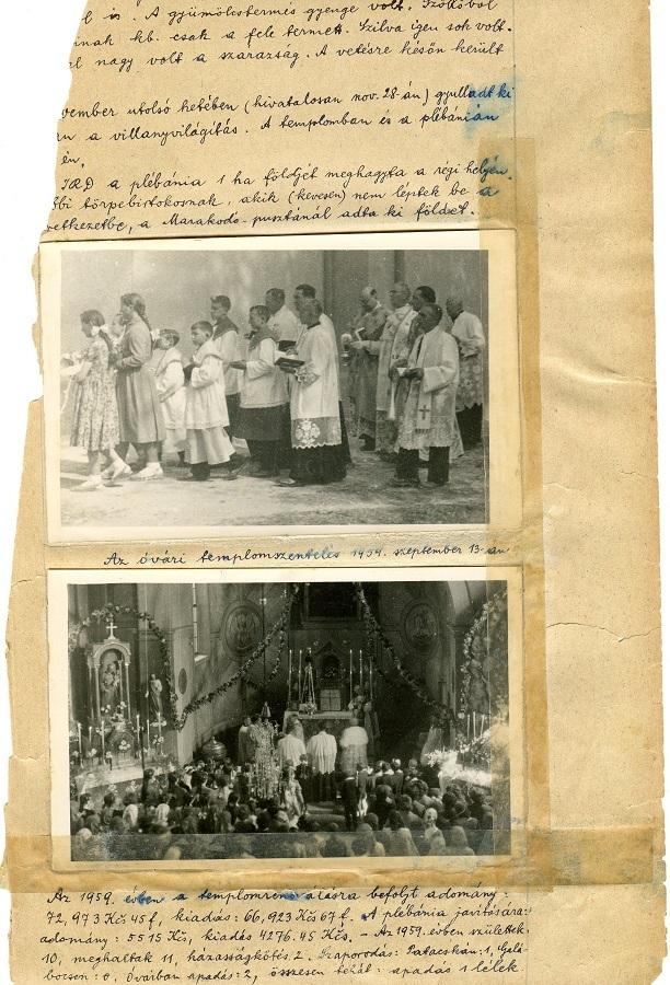 Templomszentelés 1954-ben Csáky Károly repr