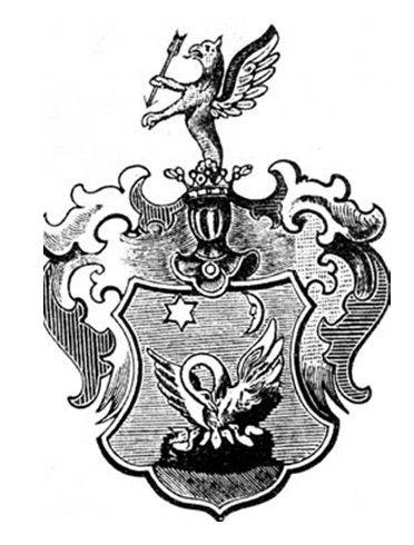 A Mikovíny család címere Csáky Károly reprodukcióján
