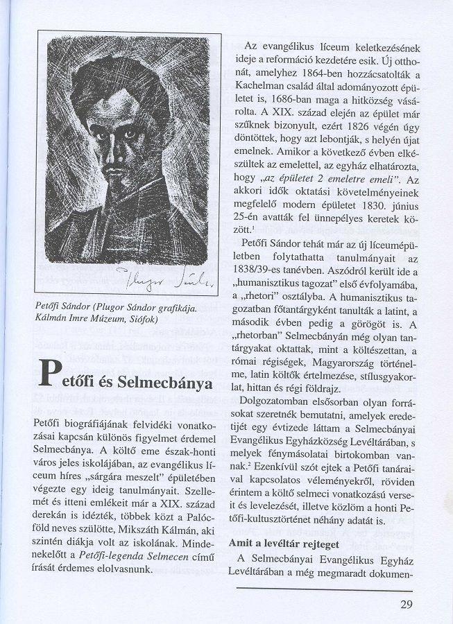 A Petőfiről szóló  tanulmány a szerző kötetében