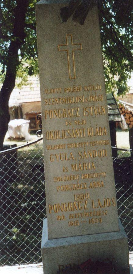 A Pongrácz-síremlék  Csáky Károly felvételén