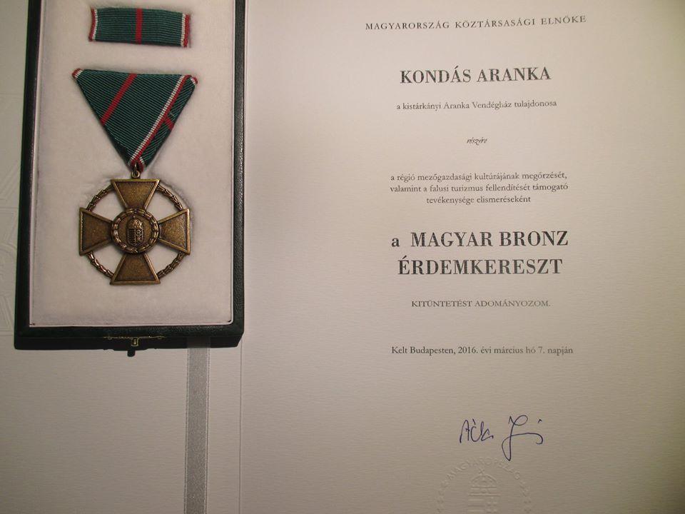 A kitüntetés