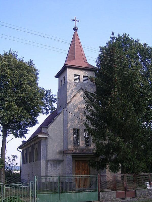 A nagycsalomjai evangélikus templom Csáky Károly felvételén