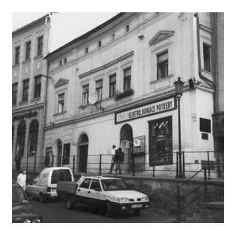 A selmecbányai Mikovíny-ház Csáky Károly reprodukcióján