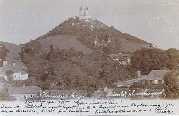 A selmeci kálvária 1902-ben egy régi képeslapon