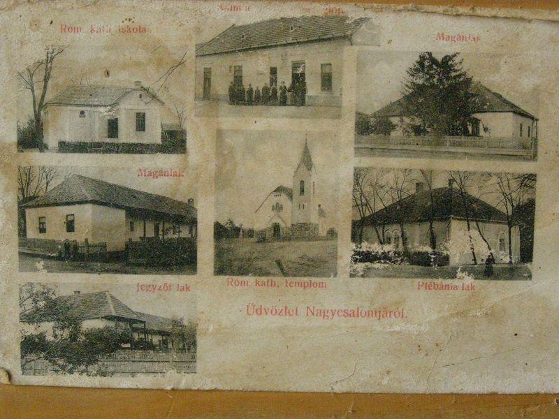Csalomjai képeslap Pölhös Vendel gyűjteményéből