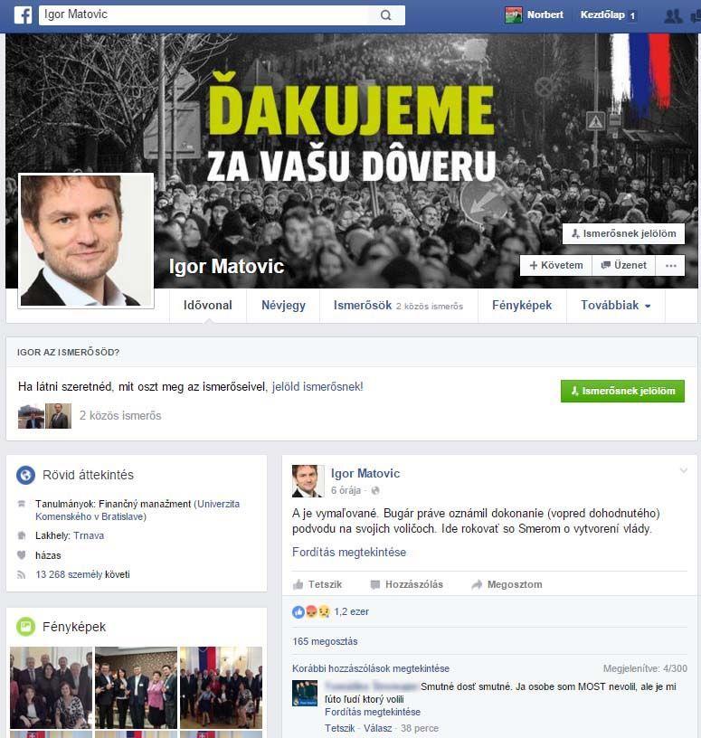 Igor Matovič oldala