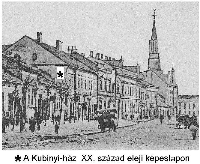 Kubinyi-ház képeslap