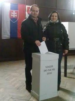 Mihók Gábor feleségével