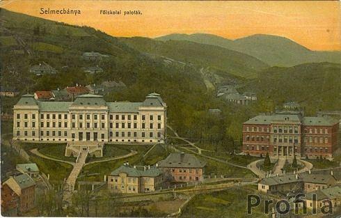 Selmecbányai főiskolai épületek a Világhálón