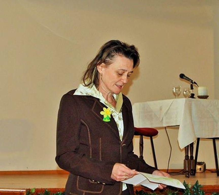 Szabó Mária igazgatóhelyettes megnyitója (Fotó: Szegedy László)