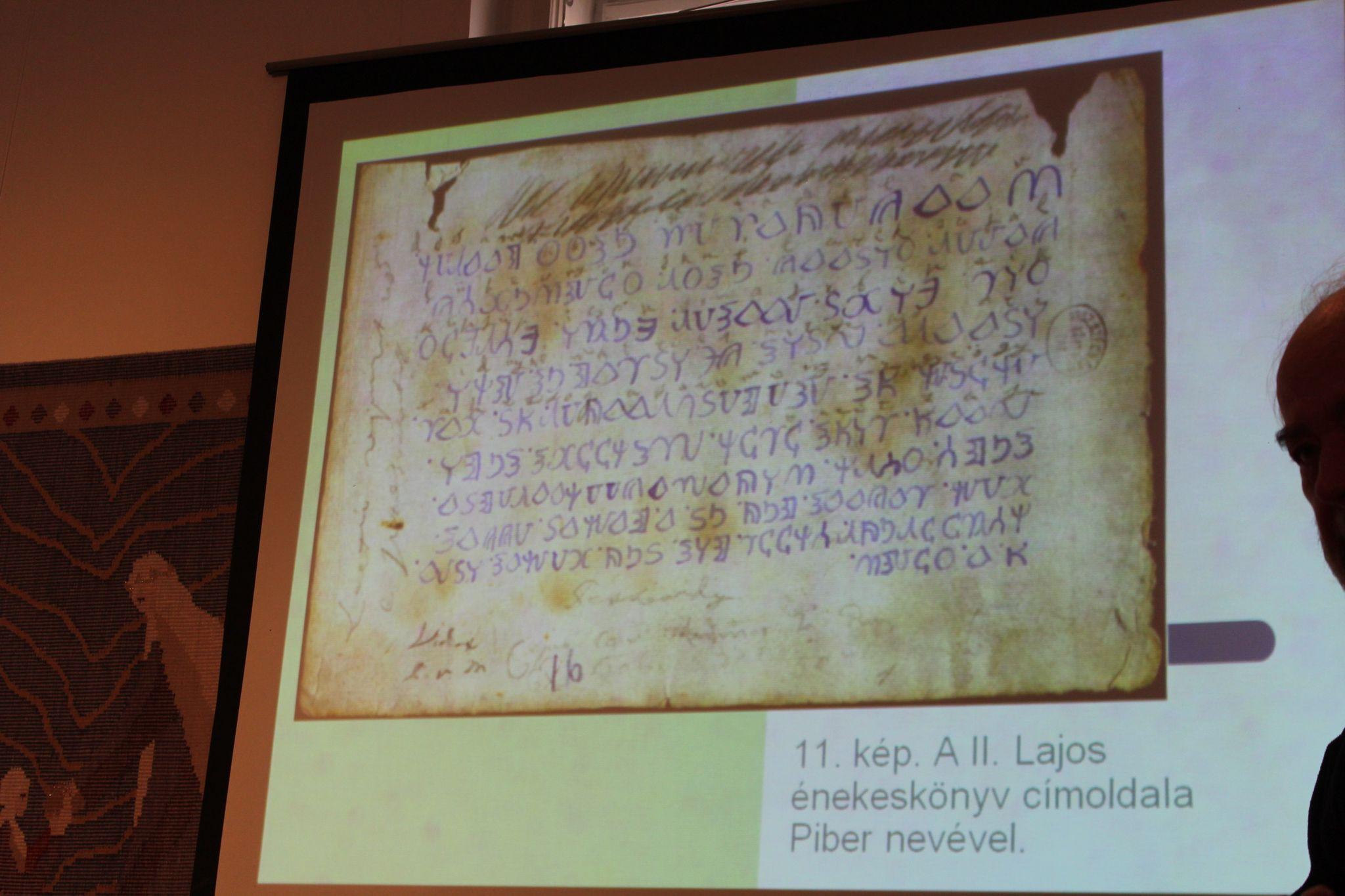 II. Lajos énekeskönyvének címoldala (Fotó: Neszméri Tünde)