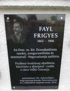 Fayl Frigyes emléktáblája (Fotó Csáky Károly)