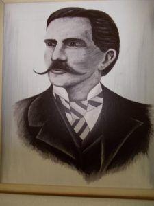 Fayl Frigyes portréja Csáky Károly reprodukcióján