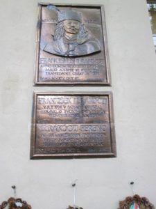 II. Rákóczi Ferenc ipolysági emléktáblája Csáky Károly felvételén