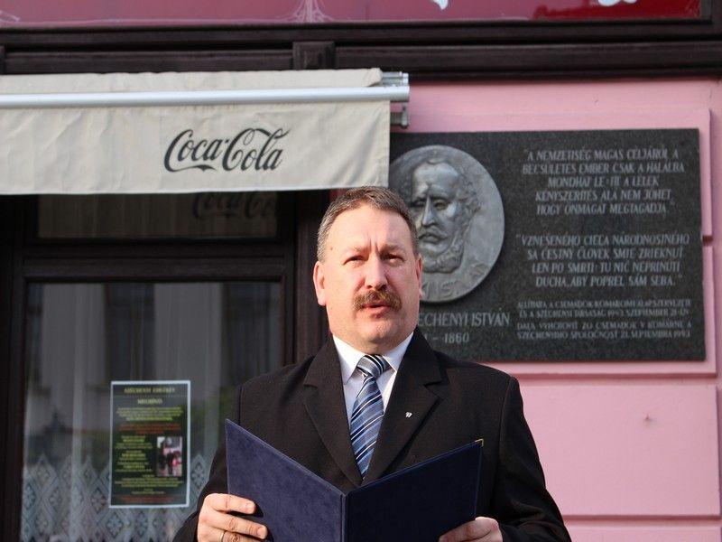 Mózes Endre, a Széchenyi Társulás elnökségi tagja. Fotó: Szalai Erika
