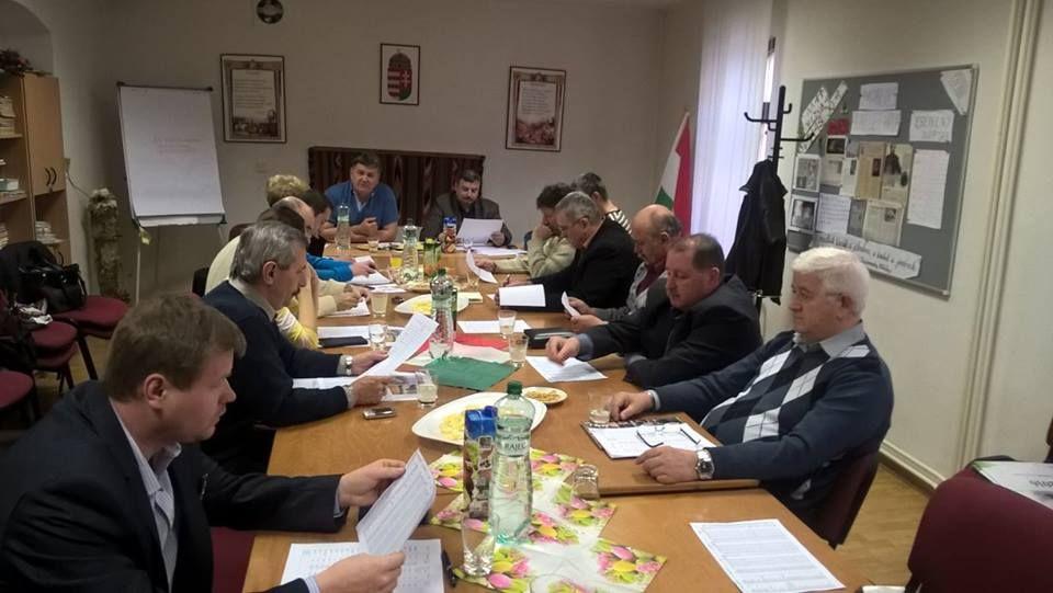 Az MKP járási elnökségi ülése Berényi Józseffel, kép: HE
