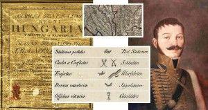 Térképleírás és Lipszky János portréja