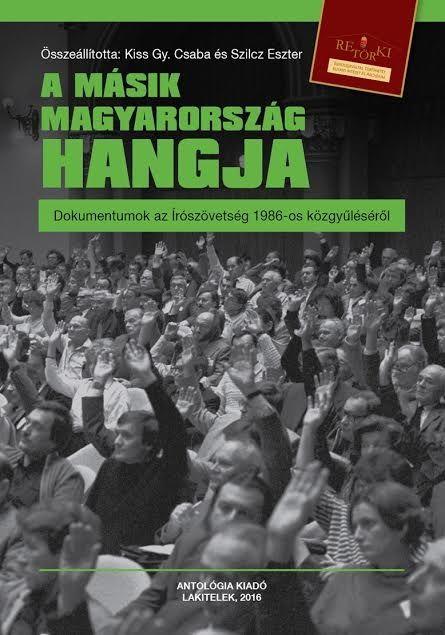 A másik Magyarország hangja c. kötet borítója