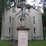 A felsőtúri templom előtti régi feszület Csáky Károly felvételén