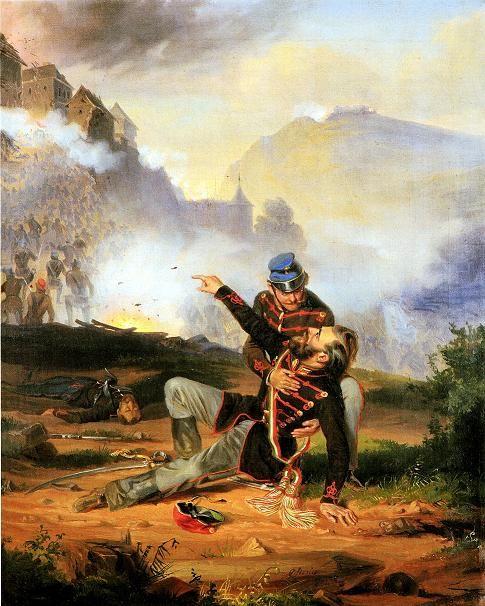 A sebesült honvéd. Sterio Károly festménye
