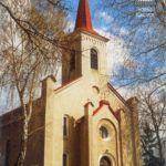 A szerző felvétele a felsőtúri templomról