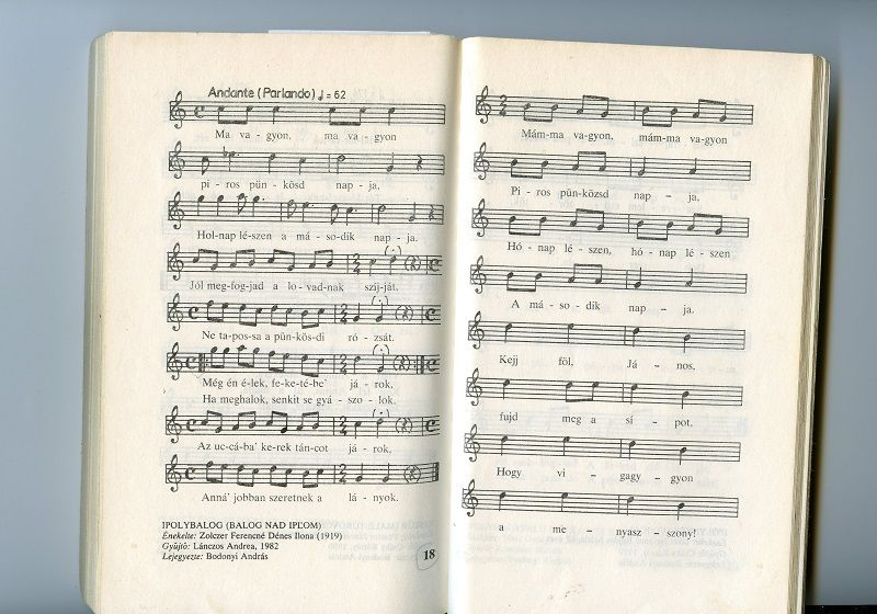 Az ipolybalogi lányok pünkösdülő éneke. Csáky K., 1987.