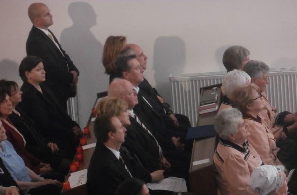 Czimbalmosné Molnár Éva, Szesztay Ádám és Zachariaš István a közönség soraiban (Fotó: Zborai Imre)