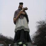Nep. Szent János szobra Felsőtúron. Csáky Károly felvétele