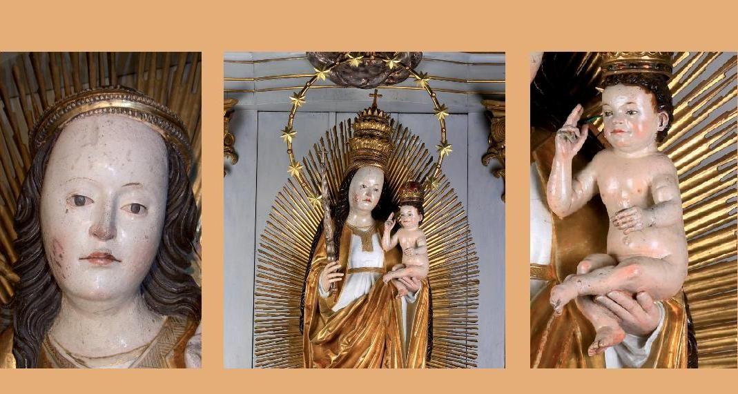 A székely hitélet szent tárgyává vált szobor a Napba öltözött asszonyt ábrázolja (Kép: maszol.ro)