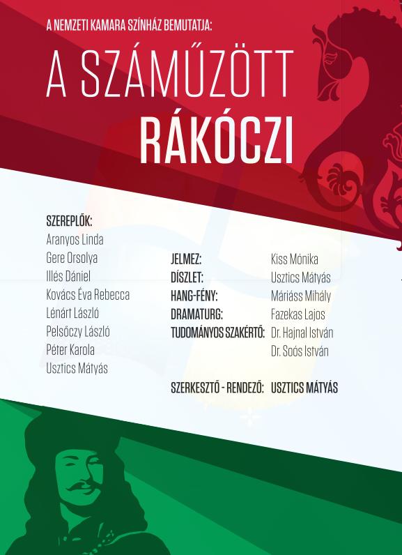 A száműzött Rákóczi c. darab a Nemzeti Kamara Színház előadásában (nemzetikamara.hu)