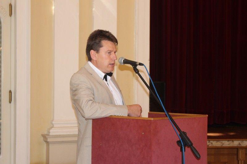 Varga Péter, a Gazda P.T. elnöke üdvözölte a jelenlévőket (Fotó: SZE)
