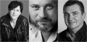 A Kaszás Attila-díj jelöltjei 2016-ban: Spolarics Andrea (Budaörsi Latinovits Színház), Schneider Zoltán (Radnóti Színház) és Csankó Zoltán (Győri Nemzeti Színház)