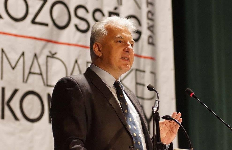 Semjén Zsolt miniszterelnök-helyettes az MKP tisztújító kongresszusán (Fotó: MKP)