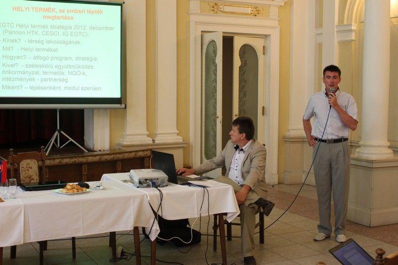 Nagy Péter, az Ister Granum EGTC elnökének előadása (Fotó: SZE)
