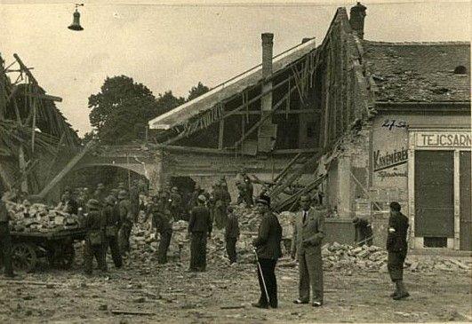 A bombázás utáni Kassa 1
