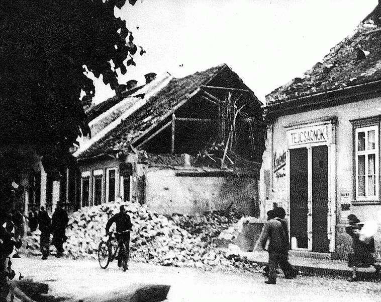 A bombázás utáni Kassa 2