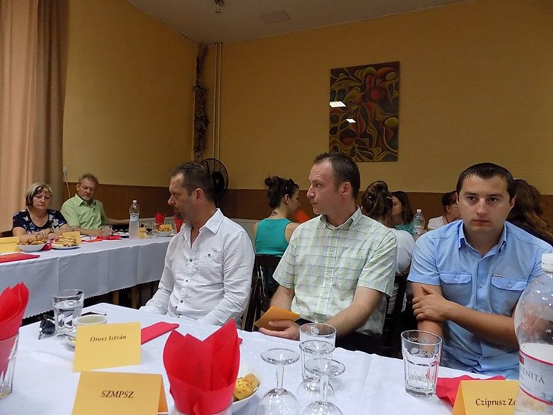 A meghívott vendégek közt Oroszt István, Sebők Attila, Cziprusz Zoltán (Fotó: HE)